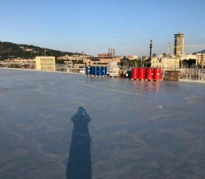 Impermeabilizacion con poliurea en caliente maremagnum Barcelona