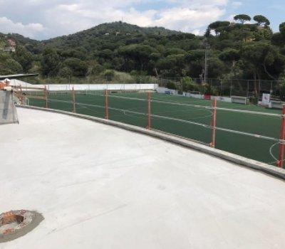 Impermeabilización ampliación gradas camp d'esports Alella (Barcelona)